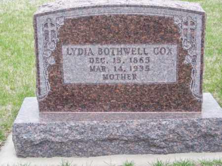 BOTHWELL COX, LYDIA - Brown County, Nebraska | LYDIA BOTHWELL COX - Nebraska Gravestone Photos