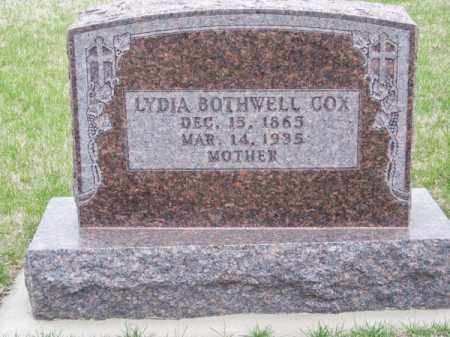 COX, LYDIA - Brown County, Nebraska | LYDIA COX - Nebraska Gravestone Photos