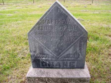 CRANE, MARTHENA ALDENE - Brown County, Nebraska | MARTHENA ALDENE CRANE - Nebraska Gravestone Photos