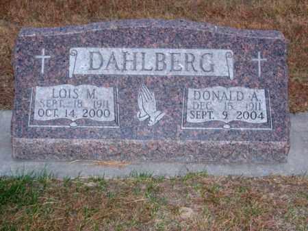 DAHLBERG, DONALD A. - Brown County, Nebraska | DONALD A. DAHLBERG - Nebraska Gravestone Photos