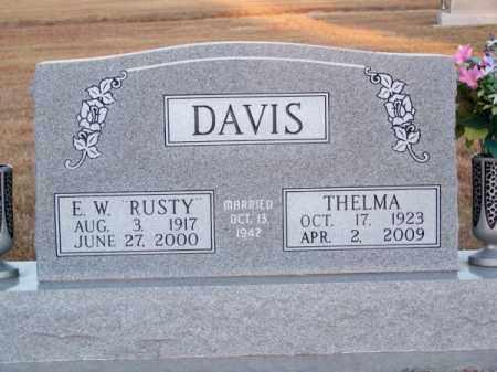 "DAVIS, E. W. ""RUSTY"" - Brown County, Nebraska | E. W. ""RUSTY"" DAVIS - Nebraska Gravestone Photos"