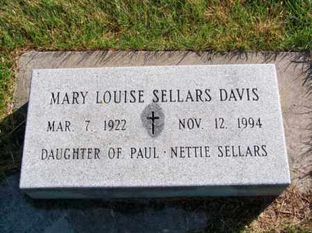 SELLARS DAVIS, MARY LOUISE - Brown County, Nebraska | MARY LOUISE SELLARS DAVIS - Nebraska Gravestone Photos