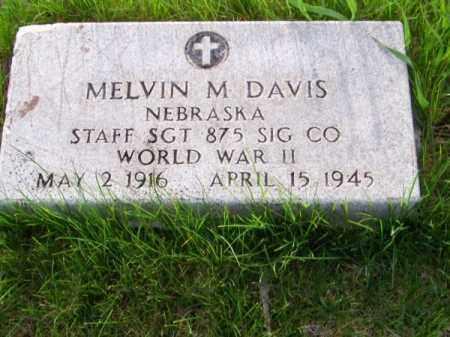 DAVIS, MELVIN M. - Brown County, Nebraska | MELVIN M. DAVIS - Nebraska Gravestone Photos