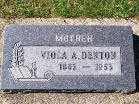 DENTON, VIOLA A. - Brown County, Nebraska | VIOLA A. DENTON - Nebraska Gravestone Photos