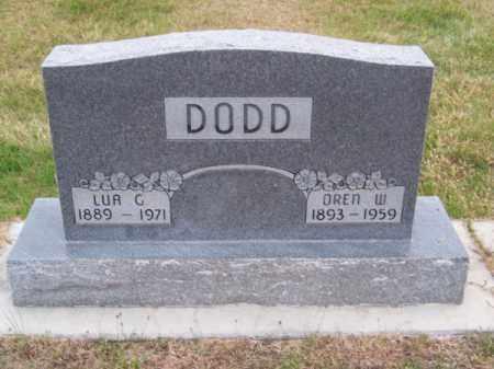 DODD, OREN W. - Brown County, Nebraska | OREN W. DODD - Nebraska Gravestone Photos