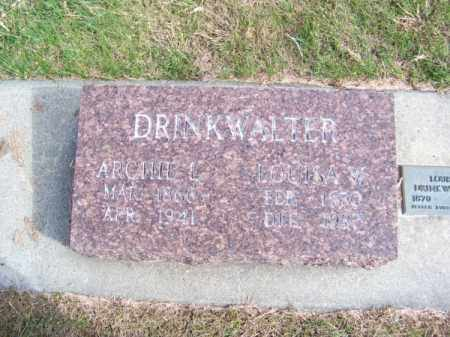 DRINKWALTER, ARCHIE L. - Brown County, Nebraska | ARCHIE L. DRINKWALTER - Nebraska Gravestone Photos