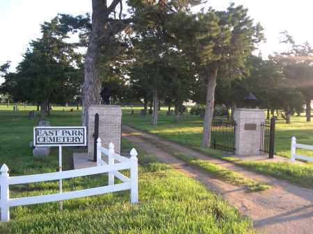 *EAST PARK CEMETERY, ENTRANCE TO - Brown County, Nebraska   ENTRANCE TO *EAST PARK CEMETERY - Nebraska Gravestone Photos