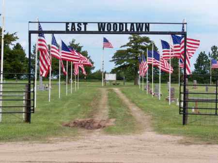 *EAST WOODLAWN CEMETERY, ENTRANCE TO - Brown County, Nebraska   ENTRANCE TO *EAST WOODLAWN CEMETERY - Nebraska Gravestone Photos