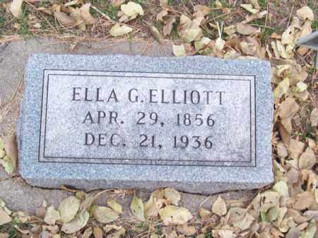 ELLIOTT, ELLA G. - Brown County, Nebraska | ELLA G. ELLIOTT - Nebraska Gravestone Photos