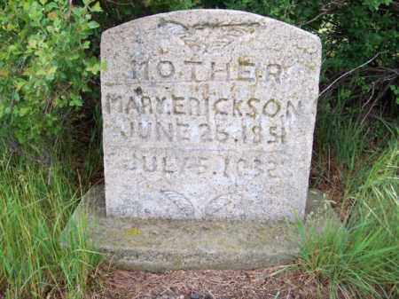 ERICKSON, MARY - Brown County, Nebraska | MARY ERICKSON - Nebraska Gravestone Photos