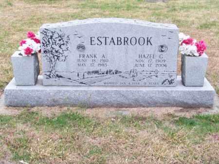 ESTABROOK, FRANK A. - Brown County, Nebraska | FRANK A. ESTABROOK - Nebraska Gravestone Photos