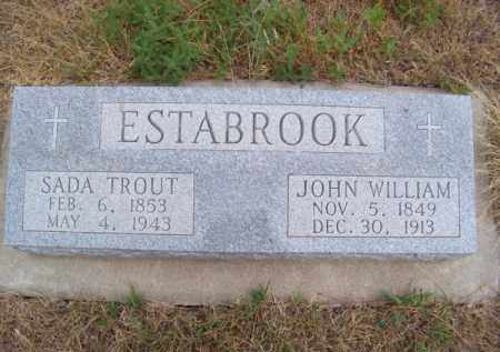 ESTABROOK, JOHN WILLIAM - Brown County, Nebraska | JOHN WILLIAM ESTABROOK - Nebraska Gravestone Photos