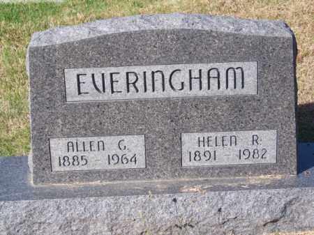 EVERINGHAM, ALLEN G. - Brown County, Nebraska | ALLEN G. EVERINGHAM - Nebraska Gravestone Photos