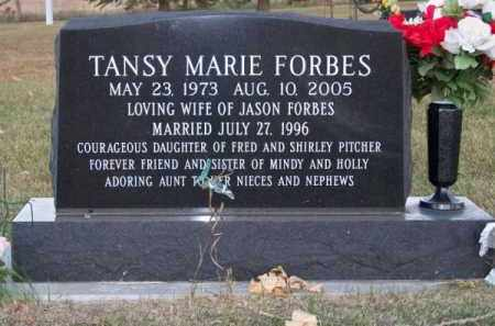 PITCHER FORBES, TANSY MARIE - Brown County, Nebraska | TANSY MARIE PITCHER FORBES - Nebraska Gravestone Photos