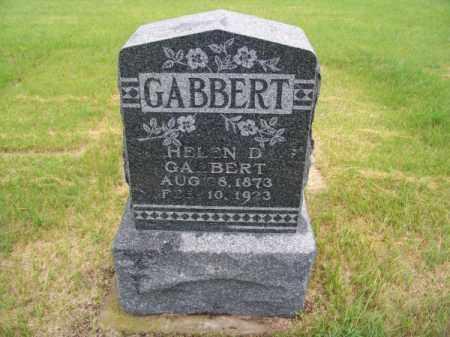 GABBERT, HELEN D. - Brown County, Nebraska | HELEN D. GABBERT - Nebraska Gravestone Photos
