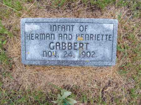 GABBERT, INFANT - Brown County, Nebraska | INFANT GABBERT - Nebraska Gravestone Photos