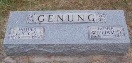 GENUNG, LUCY V. - Brown County, Nebraska | LUCY V. GENUNG - Nebraska Gravestone Photos