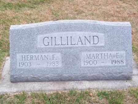 GILLILAND, MARTHA E. - Brown County, Nebraska | MARTHA E. GILLILAND - Nebraska Gravestone Photos
