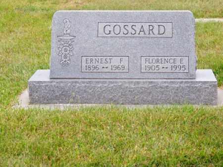 GOSSARD, FLORENCE E. - Brown County, Nebraska   FLORENCE E. GOSSARD - Nebraska Gravestone Photos