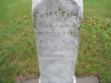 GRAMS, FRIEDRICH - Brown County, Nebraska | FRIEDRICH GRAMS - Nebraska Gravestone Photos