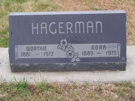 HAGERMAN, DORA - Brown County, Nebraska | DORA HAGERMAN - Nebraska Gravestone Photos