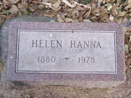 HANNA, HELEN - Brown County, Nebraska   HELEN HANNA - Nebraska Gravestone Photos