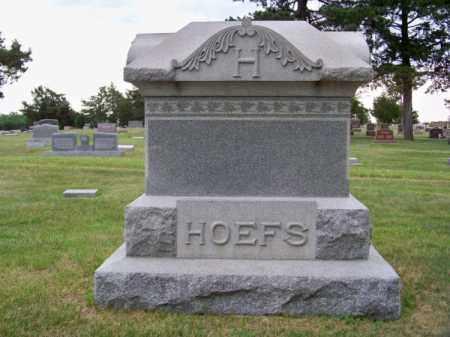 HOEFS, FAMILY - Brown County, Nebraska   FAMILY HOEFS - Nebraska Gravestone Photos