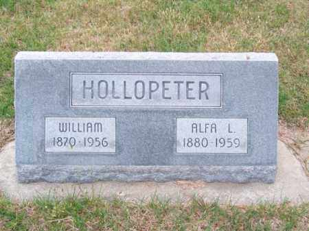 HOLLOPETER, ALFA L. - Brown County, Nebraska | ALFA L. HOLLOPETER - Nebraska Gravestone Photos