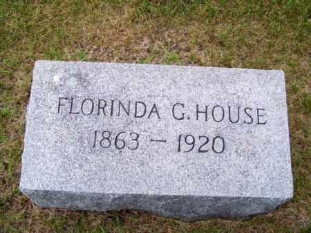 HOUSE, FLORINDA G. - Brown County, Nebraska | FLORINDA G. HOUSE - Nebraska Gravestone Photos