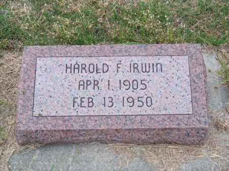 IRWIN, HAROLD F. - Brown County, Nebraska | HAROLD F. IRWIN - Nebraska Gravestone Photos