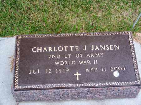 JANSEN, CHARLOTTE J. - Brown County, Nebraska | CHARLOTTE J. JANSEN - Nebraska Gravestone Photos