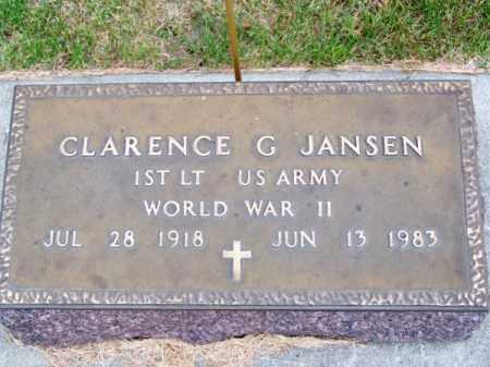 JANSEN, CLARENCE G. - Brown County, Nebraska | CLARENCE G. JANSEN - Nebraska Gravestone Photos