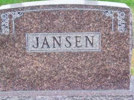 JANSEN, FAMILY - Brown County, Nebraska | FAMILY JANSEN - Nebraska Gravestone Photos