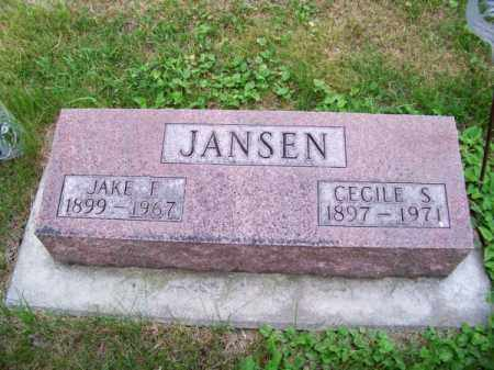 JANSEN, JAKE F. - Brown County, Nebraska | JAKE F. JANSEN - Nebraska Gravestone Photos