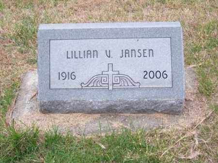 JANSEN, LILLIAN V. - Brown County, Nebraska   LILLIAN V. JANSEN - Nebraska Gravestone Photos