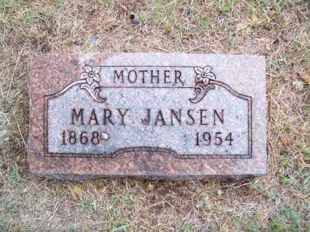 JANSEN, MARY - Brown County, Nebraska   MARY JANSEN - Nebraska Gravestone Photos