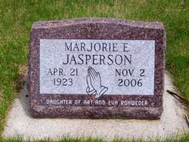ROHWEDER JASPERSON, MARJORIE E. - Brown County, Nebraska | MARJORIE E. ROHWEDER JASPERSON - Nebraska Gravestone Photos