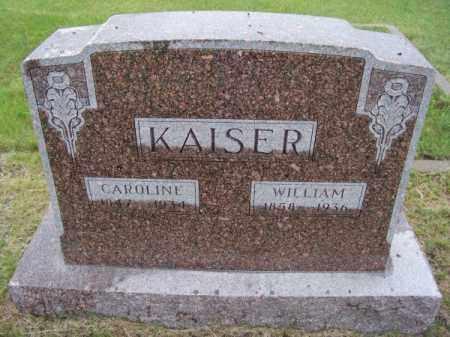 KAISER, WILLIAM - Brown County, Nebraska | WILLIAM KAISER - Nebraska Gravestone Photos