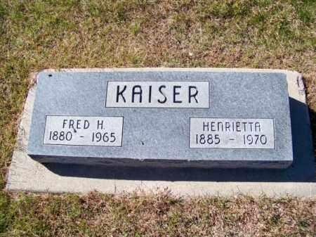 KAISER, FRED H. - Brown County, Nebraska | FRED H. KAISER - Nebraska Gravestone Photos