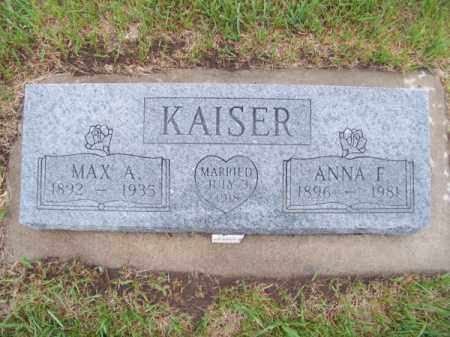 KAISER, MAX A. - Brown County, Nebraska | MAX A. KAISER - Nebraska Gravestone Photos