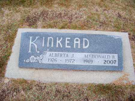 KINKEAD, ALBERTA J. - Brown County, Nebraska | ALBERTA J. KINKEAD - Nebraska Gravestone Photos