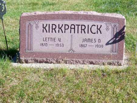 KIRKPATRICK, JAMES D. - Brown County, Nebraska   JAMES D. KIRKPATRICK - Nebraska Gravestone Photos