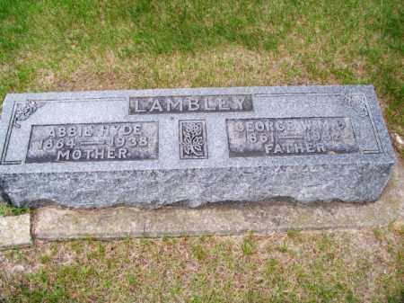 LAMBLEY, GEORGE W. M.D. - Brown County, Nebraska | GEORGE W. M.D. LAMBLEY - Nebraska Gravestone Photos