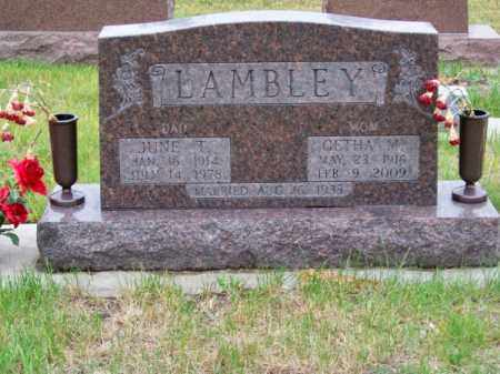 LAMBLEY, JUNE T. - Brown County, Nebraska | JUNE T. LAMBLEY - Nebraska Gravestone Photos
