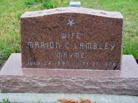 LAMBLEY, MARION (MAYME) - Brown County, Nebraska | MARION (MAYME) LAMBLEY - Nebraska Gravestone Photos