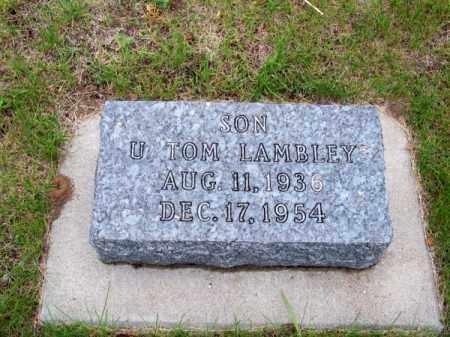 LAMBLEY, U. TOM - Brown County, Nebraska | U. TOM LAMBLEY - Nebraska Gravestone Photos