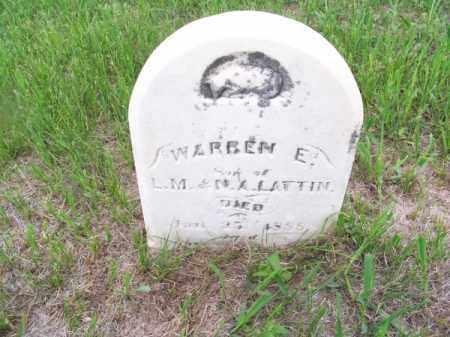 LATTIN, WARREN E. - Brown County, Nebraska | WARREN E. LATTIN - Nebraska Gravestone Photos
