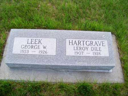 HARTGRAVE, LEROY DILE - Brown County, Nebraska | LEROY DILE HARTGRAVE - Nebraska Gravestone Photos