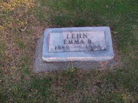 LEHN, EMMA B. - Brown County, Nebraska | EMMA B. LEHN - Nebraska Gravestone Photos