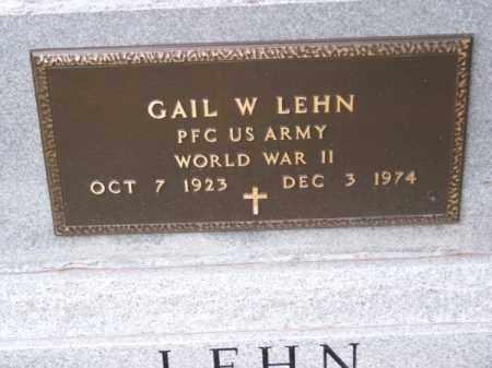 LEHN, GAIL W. - Brown County, Nebraska | GAIL W. LEHN - Nebraska Gravestone Photos